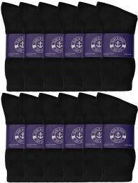 72 of Yacht & Smith Womens Cotton Black Crew Socks, Sock Size 9-11
