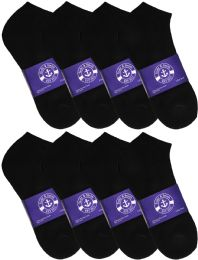 1200 of Yacht & Smith Mens Cotton Black No Show Ankle Socks, Sock Size 10-13