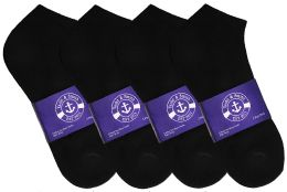 1200 of Yacht & Smith Womens Cotton Black No Show Ankle Socks, Sock Size 9-11