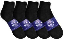 1200 of Yacht & Smith Mens Cotton Black Sport Ankle Socks, Sock Size 10-13