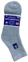 48 of Yacht & Smith Women's Diabetic Cotton Ankle Socks Soft NoN-Binding Comfort Socks Size 9-11 Gray Bulk Pack