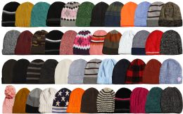 96 of Yacht & Smith Winter Hat Beanies For Adults, Mixed Colors And Styles Assortment, Unisex