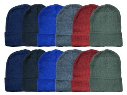 1200 of Yacht & Smith Kids Winter Beanie Hat Assorted Colors Bulk Pack Warm Acrylic Cap