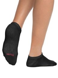 180 of Hanes Woman Black Footie, No Show Ankle Socks