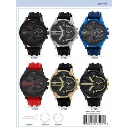 12 of 50mm Milano Expressions Silicon Band Watch - 47406-Asst