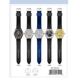 12 of 41mm Milano Expressions Silicon Band Watch - 47903-Asst