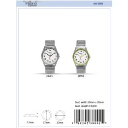 12 of 37mm Milano Expressions Flex Band Watch - 38006-Asst