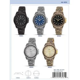 12 of 42mm Milano Expressions Metal Band Watch - 48585-Asst