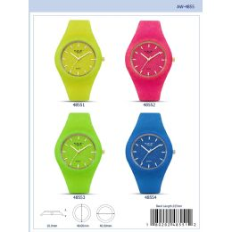 12 of 40mm Milano Expressions Silicon Watch - 47007-Asst