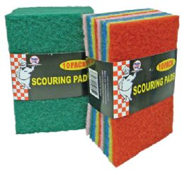 48 of Scouring Pads 10 Pack In Display