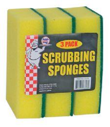 36 of Scrubbing Sponge 3 Pack 5.5 X 3.75 Inch