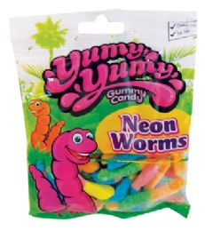 12 of Yumy Yumy Neon Worms 4.5 oz