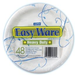 12 of Easy Ware Print Design 7 48ct Heavy Duty Paper Plate Microwave Safe Grease Resistant