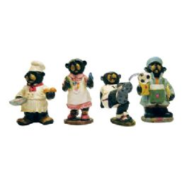24 of Polyresin Figurines 5 Inch Assorted Bear Designs
