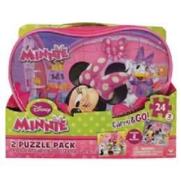 25 of Disney Minnie Puzzle 24 Piece 2 Pack Carry And go