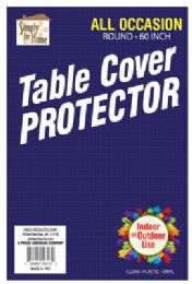 36 of VINYL TABLECLOTH PROTECTOR 60 INCH ROUND