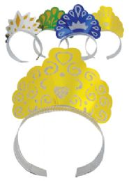 48 of Foil Tiaras 4 Pack Party Design Assorted Colors
