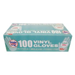10 of Vinyl Glove 100 Count Small Powder Free