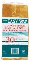 40 of Easy Way Brown Lunch Bag 30ct Self Standing Flat Bottom 10 1/2 X 5 1/4 X 3 1/4