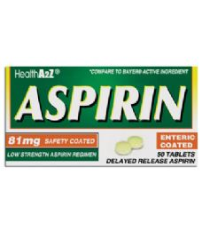 24 of Aspirin Coated Tablets 50 Ct 81 Mg Compare To Bayer