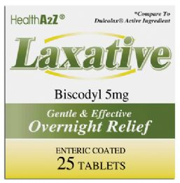 24 of Laxative Tablets 25 Count Biscodyl 5 Mg Compare To Dulcolax