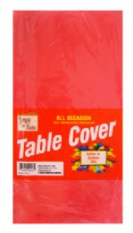 48 of Plastic Table Cover 54 X 108 Inch Red