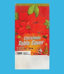 48 of Plastic Table Cover 54 X 108 Inch Christmas