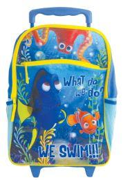 "6 of Disney Rolling Backpack 16""""dory We Swim"