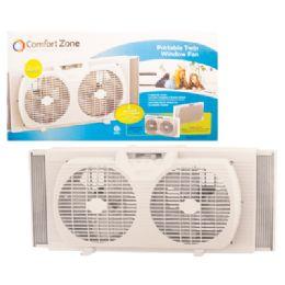 Comfort Zone Window Fan 9 Inch 2 Speed Twin Etl Approved
