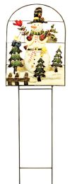 8 of CHRISTMAS HAND PAINTED LAWN DECORATION LARGE 41 INCH X 12.5 INCH WIDE