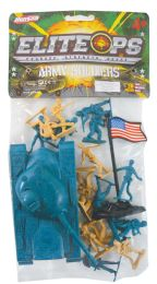 24 of Plastic Army 20 Piece Set Tanksoliders And Flag