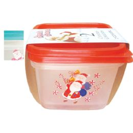 36 of Christmas Storage Container 21 Ounce 2 Pack Assorted Colors