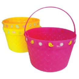 48 of Easter Basket 8 X 5.5 In Assorted Colors And Designs