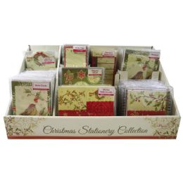 96 of Christmas Stationary Display Includes Spiral Notebook