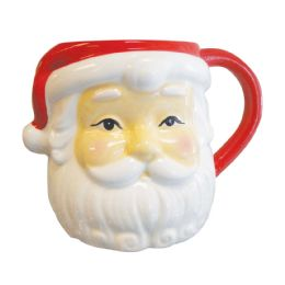 4 of Santa Face Christmas Mug 26 oz