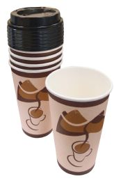 48 of Hot Cup With Lid 10 Pk 16 Oz - 5 Cups + 5 Lids