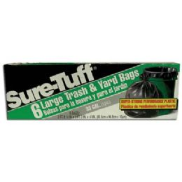 24 of Sure Tuff Trash And Yard Bags 6 Count 33 Gallon