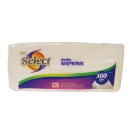 12 of Select Napkins 500-1 Ply Sheets 12 X 12 in