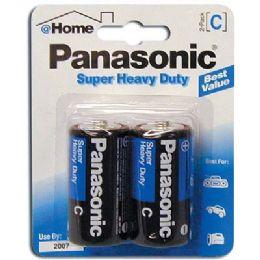 48 of Panasonic Super Batteries Heavy Duty C 2 Pack