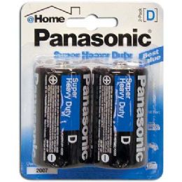 48 of Panasonic Batteries Super Heavy Duty D 2 Pack