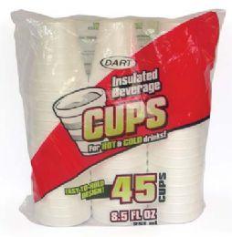 24 of Dart Insulated Foam Cups 45 Ct 8.5 oz