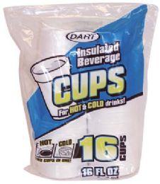 24 of Dart Insulated Foam Cups 16 Ct 16 oz