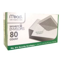 24 of Mead Security Envelopes 80 Ct #6.75 White