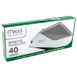 24 of Mead Security Envelopes 40 Ct #10 White