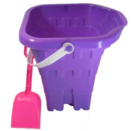 48 of Sand Castle Bucket 8 Inch With Shovel And Spout Astd Colors