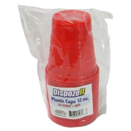 36 of Plastic Cup 20 Count 12 Oz Red
