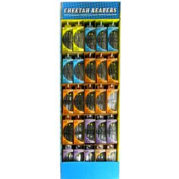 75 of Cheetah Readers 3pk Glasses Astd Power Display +1.25 To +3.00