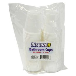 36 of Bathroom Cup 80 Count 2.5 Ounces White