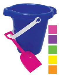 48 of Beach Pail 7 In With Shovel And Spout Assorted Colors