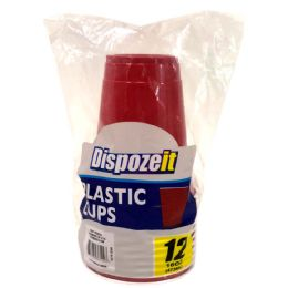 24 of Plastic Cup 12 Ct 16 Oz Red Compares To Solo